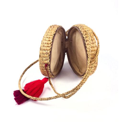 Korbtasche, Rattan Tache handcrafted , waterhyazinth Bag thailand