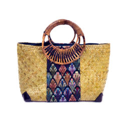 handcrafted Bag from Thailand, rattantasche, Korbtasche