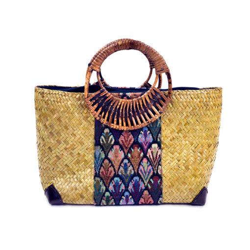 handcrafted Bag from Thailand, rattantasche, Korbtasche