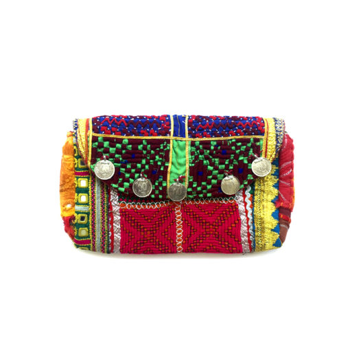 handcrafted colorful clutch from india