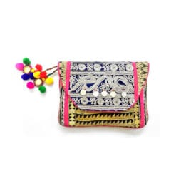 handcrafted banjara clutch
