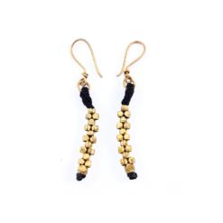dokra earrings ohrringe kleine goldenen kreuze, small golden corsses, jewelry handcrated in india