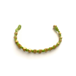 vintage grün und goldenes armband, bracelet, kikooni,