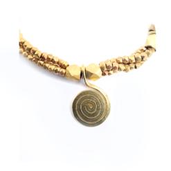 Detail Dokra Halskette, vintage necklace
