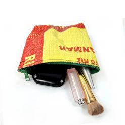 Cosmeticbag upcycled , recycled, small bag, upcycled ricebag