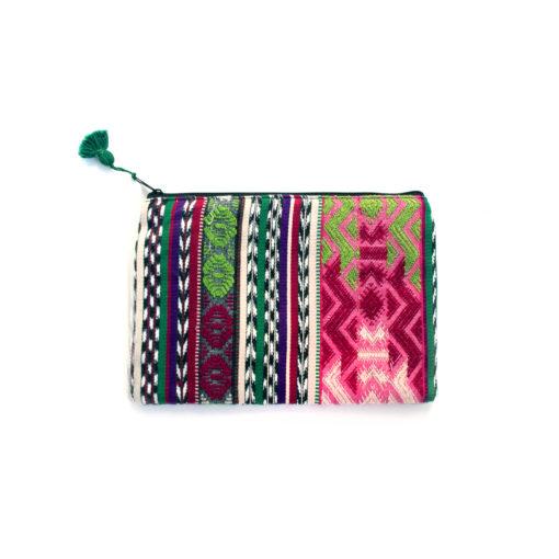upcycled Cosmeticbag handmade in guatemala, recycelte Kosmetiktasche handgewebt und handgefertigt in guatemala