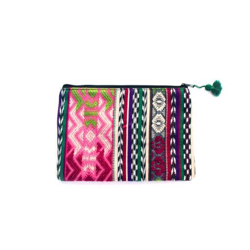 upcacled Cosmeticbag handmadein guatemala, recycelte Kosmetiktasche handgewebt und hnadgefertigt in guatemala