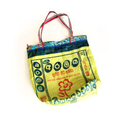 upcycled XL shopper, made of recycled ricebag , Tasche aus recyceltem Kunststoff Reissack