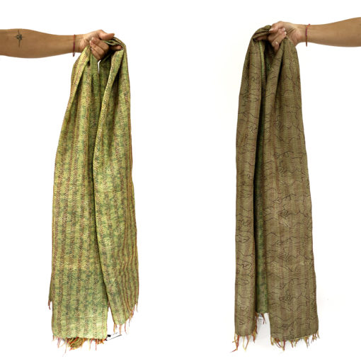 handcrafted_Kantha scarf_asha_embroidery_Kantha Schal