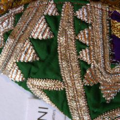 Clutch Diva, golden Silver handcrafted handbag, Handtasche aus Jaipur, vintage, Banjara Bag
