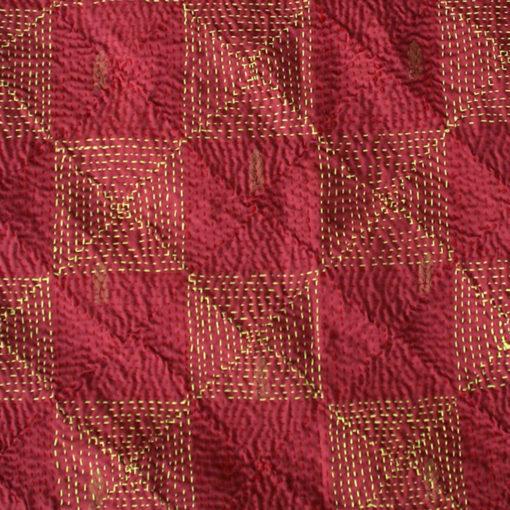 "Kantha Scarf ""Neela"" upcycled Sari fabric Seidenschal"
