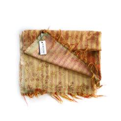 upcycled sari kantha scarf, Kantha stoff, vintage sari stoffe, kantha stiching,kantha scarf