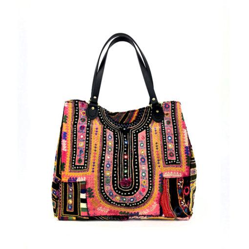 "banjara bag_pinklove"" handcrafted, unique piece made of vintage banjara fabrics"