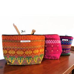 handcrafted cosmeticbags fom guatemala, handmade, handgewebt
