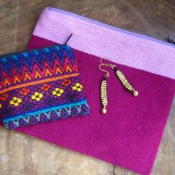 handcrafted cosmeticbag , handgefertige Kosmetiktasche , Kulturbeutel