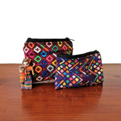 handcrafted pouch from guatemala, cosmeticbag, jewelry bag , purse