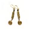 long handcrafted dokra earrings