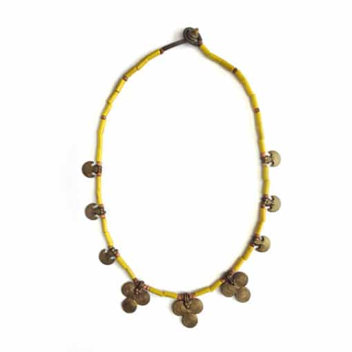 handcrafted vintage necklace yellow
