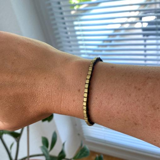 "handgefertigtes dokra armband ""delicate"""